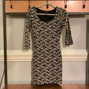 Floral Bodycon Dress Excellent Used Condition S